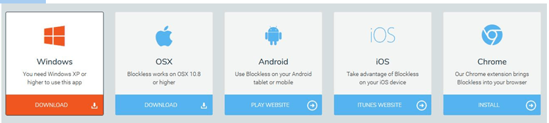 blockless apps and devices compatibility