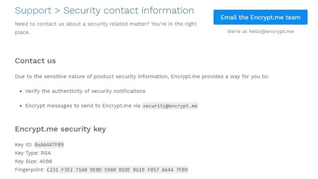 Encrypt.me Responsibilities & Support Review